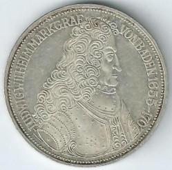Moneda > 5marcos, 1955 - Alemania  (300º Aniversario - El nacimiento de Ludwig von Baden) - reverse