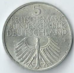 Moneda > 5marcos, 1952 - Alemania  (100 aniversario del Museo Nacional Germano en Nuremberg) - obverse