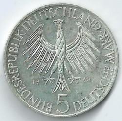 Moneda > 5marcos, 1964 - Alemania  (150º Aniversario - Muerte de Johann Gottlieb Fichte) - obverse
