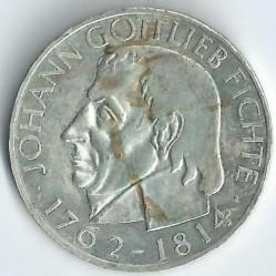 Moneda > 5marcos, 1964 - Alemania  (150º Aniversario - Muerte de Johann Gottlieb Fichte) - reverse