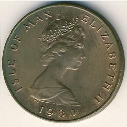 Монета > 1пени, 1980-1983 - Остров Ман  - obverse