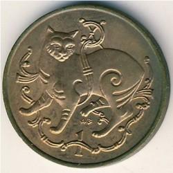 Монета > 1пени, 1980-1983 - Остров Ман  - reverse