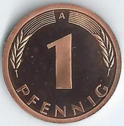 Münze > 1Pfennig, 2001 - Deutschland  - reverse