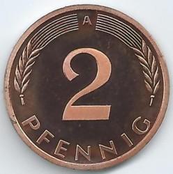Münze > 2Pfennig, 2001 - Deutschland  - reverse