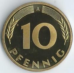 Münze > 10Pfennig, 2001 - Deutschland  - reverse