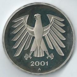 Münze > 5Mark, 2001 - Deutschland  - obverse