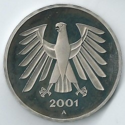Münze > 5Mark, 2001 - Deutschland  - reverse