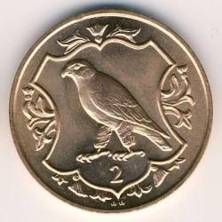 Moneta > 2pence, 1984 - Isola di Man  (500th Anniversary - College of Arms) - reverse