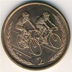 Монета > 2пенса, 1996-1997 - Острів Мен  - reverse