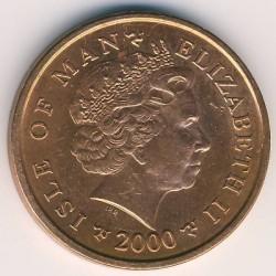 Кованица > 2пенија, 2000-2003 - Острво Мен  - obverse