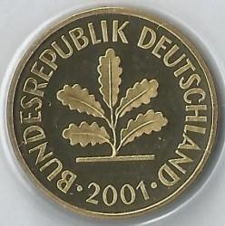 Münze > 5Pfennig, 2001 - Deutschland  - obverse