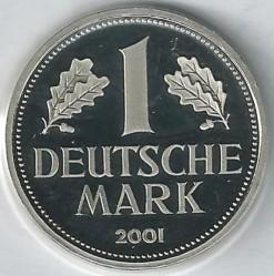 Münze > 1Mark, 2001 - Deutschland  - reverse