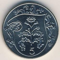 Монета > 5пенсів, 1985-1987 - Острів Мен  - reverse