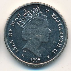 Moneta > 5pence, 1994-1995 - Isola di Man  - obverse
