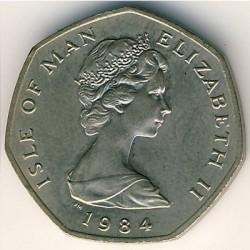 Монета > 20пенса, 1984 - Остров Ман  - obverse
