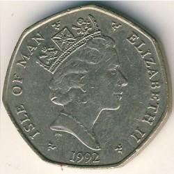 Монета > 20пенса, 1988-1992 - Остров Ман  - obverse