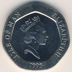 Кованица > 20пенија, 1993-1995 - Острво Мен  - obverse