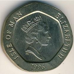 Кованица > 20пенија, 1996-1997 - Острво Мен  - obverse