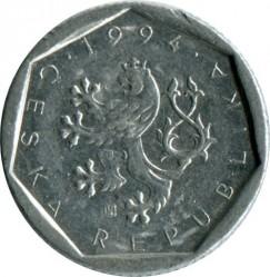 錢幣 > 20赫勒, 1993-1997 - 捷克  - obverse