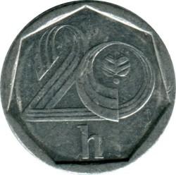 錢幣 > 20赫勒, 1993-1997 - 捷克  - reverse