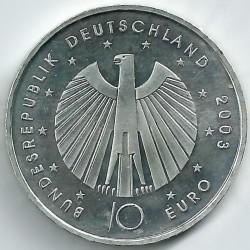 Moeda > 10euro, 2003 - Alemanha  (Campeonato Mundial de Futebol, Alemanha 2006) - obverse