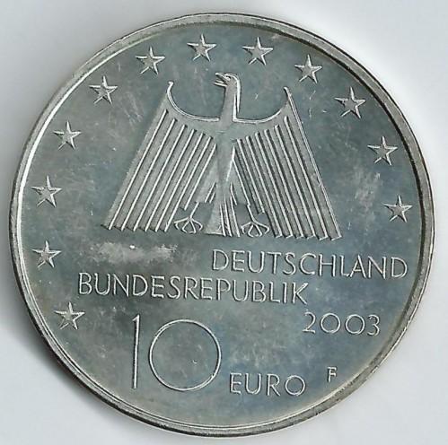 10 Euro 2003 Ruhrgebiet Deutschland Münzen Wert Ucoinnet