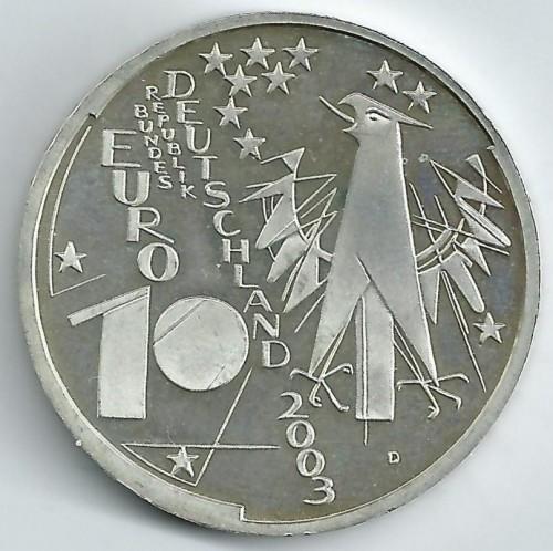 10 Euro 2003 Deutsches Museum In München Deutschland Münzen