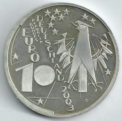 Moeda > 10euro, 2003 - Alemanha  (Centenário do Museu Alemão em Munique) - obverse