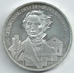 Moneda > 10euros, 2003 - Alemania  (200º aniversario del nacimiento de Justus von Liebig) - reverse