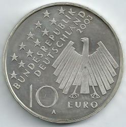 Monēta > 10eiro, 2003 - Vācija  (50th Anniversary - Uprising in East Germany) - obverse