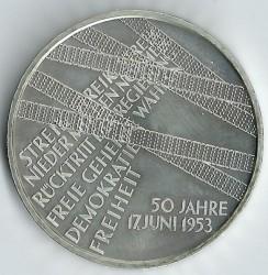 Monēta > 10eiro, 2003 - Vācija  (50th Anniversary - Uprising in East Germany) - reverse