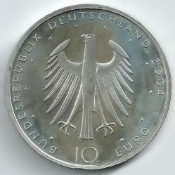 Moeda > 10euro, 2004 - Alemanha  (Bicentenário do Nascimento do Poeta Eduard Mörike) - obverse