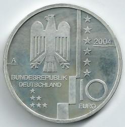 Moeda > 10euro, 2004 - Alemanha  (Bauhaus em Dessau) - obverse