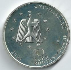 מטבע > 10אירו, 2004 - גרמניה  (Columbus Laboratory on ISS) - obverse