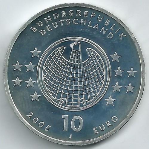 10 Euro 2005 Albert Einstein Deutschland Münzen Wert Ucoinnet