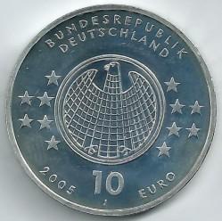 Moeda > 10euro, 2005 - Alemanha  (Centenário da Teoria da Relatividade de Albert Einstein ) - obverse