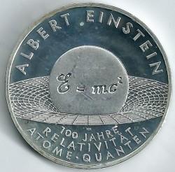 Moeda > 10euro, 2005 - Alemanha  (Centenário da Teoria da Relatividade de Albert Einstein ) - reverse