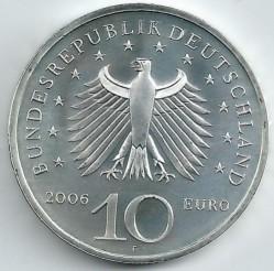 Moeda > 10euro, 2006 - Alemanha  (225 Anos do Nascimento do Arquitecto Karl Friedrich Schinkel) - obverse
