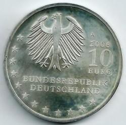 Moeda > 10euro, 2006 - Alemanha  (800 Anos da Fundação da Cidade de Dresden) - obverse