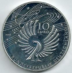 Moeda > 10euro, 2006 - Alemanha  (250 Anos do Nascimento do Compositor Wolfgang Amadeus Mozart) - obverse