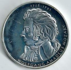 Moeda > 10euro, 2006 - Alemanha  (250 Anos do Nascimento do Compositor Wolfgang Amadeus Mozart) - reverse
