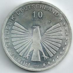 Moeda > 10euro, 2007 - Alemanha  (50 Anos da Assinatura do Tratado de Roma) - obverse