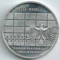 Moeda > 10euro, 2007 - Alemanha  (50 Anos do Banco Federal da Alemanha) - obverse