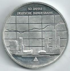 Moeda > 10euro, 2007 - Alemanha  (50 Anos do Banco Federal da Alemanha) - reverse