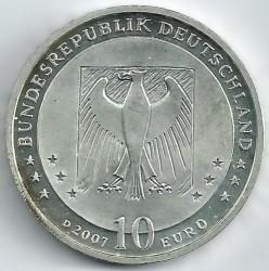 Moeda > 10euro, 2007 - Alemanha  (175 Anos do Nascimento do Poeta e Ilustrador Wilhelm Busch) - obverse