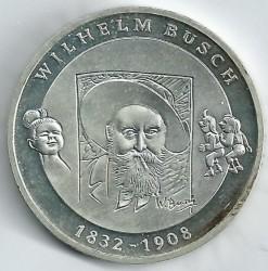 Moeda > 10euro, 2007 - Alemanha  (175 Anos do Nascimento do Poeta e Ilustrador Wilhelm Busch) - reverse