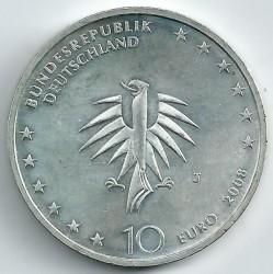 Moeda > 10euro, 2008 - Alemanha  (50 Anos do Navio-Escola Gorch Fock) - obverse