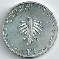 Moeda > 10euro, 2008 - Alemanha  (50 Anos do Navio-Escola Gorch Fock) - reverse