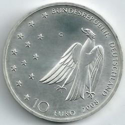 Moeda > 10euro, 2008 - Alemanha  (125 Anos do Nascimento do Escritor Franz Kafka ) - obverse