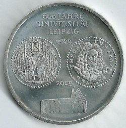 Moneda > 10euros, 2009 - Alemania  (600º Aniversario de la Universidad de Leipzig) - obverse
